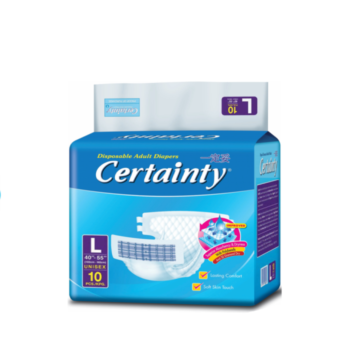 Certainty Unisex Disposable Adult Diapers - Large (L) 1carton/6bags